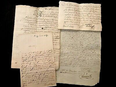 COLLECTION OF FIVE documents 1700-1800s
