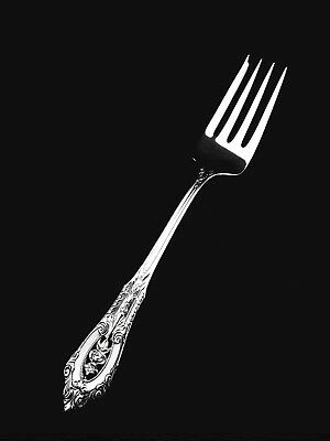 """🍴 Wallace Sterling Silver Rose Point Salad Fork - 6 3/8""""   👍"""