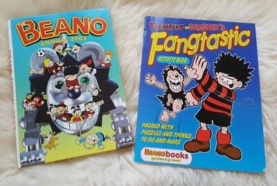 Dennis and Gnasher's Fangtastic Activity Book ~PLUS~  Beano Annual 2003