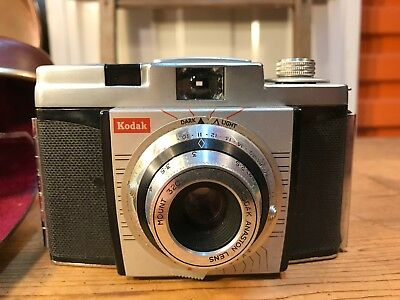 Vintage 1960's Kodak 35mm Film Camera Anaston Lens in Leather Case