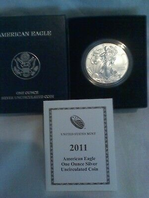 2011-W American Eagle, Uncirculated One Ounce SIlver Coin with COA (2712)