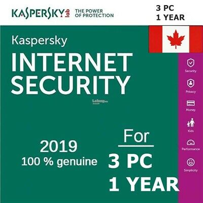 Kaspersky Internet Security 2018 2019 3 User / 1 Year / Download ESD