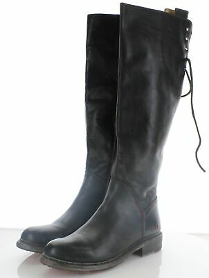 241 Bed   Stü Manchester Black Leather Boots Women Size 8