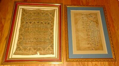 TWO Original SAMPLERS from the Same Estate 1803 & 1857
