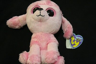54663f1e8e7 ty beanie boos 6 inch princess the pink poodle dog old solid eyes and heart  tag