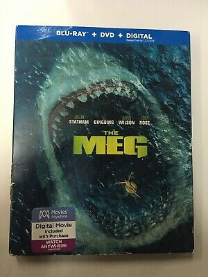 The Meg (Blu-ray/DVD) With Slip Cover No Digital Code