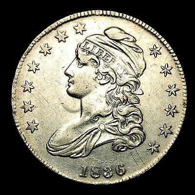 1836 ~**XF++/AU**~ Silver Capped Bust Half Dollar Antique US Old Coin! #134