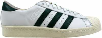 best website a5983 e8fe9 Adidas Superstar 80s Recon Crystal White Green-Off White B41719 Men s SZ  10.5