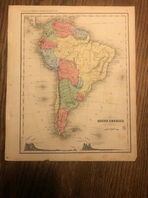 TWO Original Antique Maps of South America. 1864 and 1875