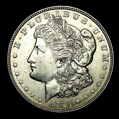1921 D ~**ABOUT UNCIRCULATED AU**~ Silver Morgan Dollar Rare US Old Coin! #624