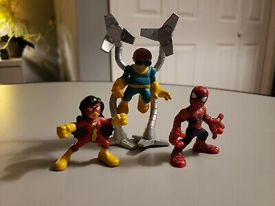 Marvel Super Hero Squad figures 2 inch Doc Ock, Spider-Woman and Spider-Man