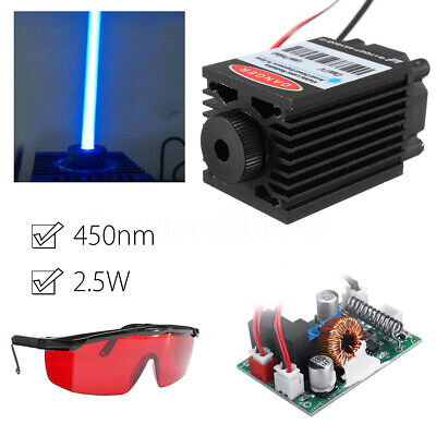 2.5W 2500mW 450nm Blue Laser Module TTL Driver Board+Goggles For Laser Cutter !