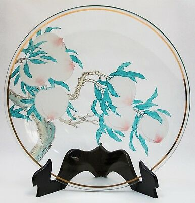 Peach Plate - Art glass from Chinese Pavilion 1964-5 New York World's Fair