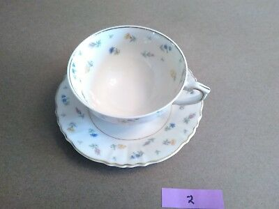 Vintage Syracuse China Suzanne Federal Shape Cup and Saucer Made In America NICE