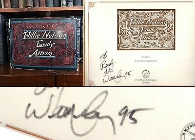 Willie Nelson Family Album HAND SIGNED by Willie Nelson! Country Music Icon!