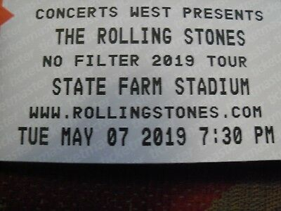 The Rolling Stones 2 Field Tickets No Filter Tour Glendale AZ May 2019 Phoenix