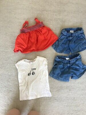 Jacardi & Bonpoint, Girls Shorts And T-shirts, 4 Years To Fit 3, Great Condition
