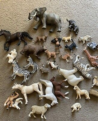 Near New Schleich Animal Collection Rare Discontinued Items And Sets Bulk Lot