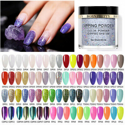 BORN PRETTY 10ml Dipping Powder Chameleon Holographic Dip Liquid Nails NO UV Kit