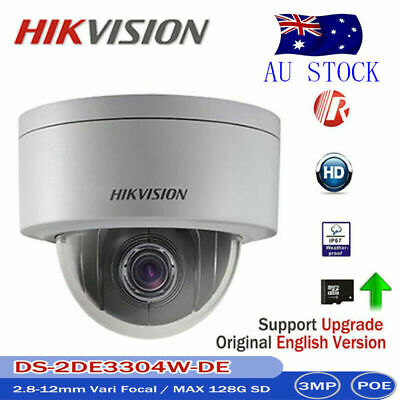 Hikvision DS-2DE3304W-DE 3MP Network MINI PTZ IP Camera 4X POE P2P AU STOCK