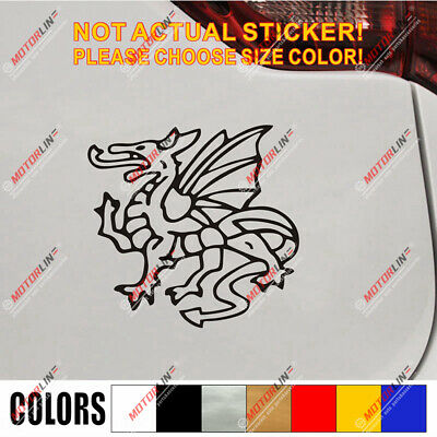 English England White Dragon Patriotic PROUD TO BE ANGLO-SAXON CAR STICKER