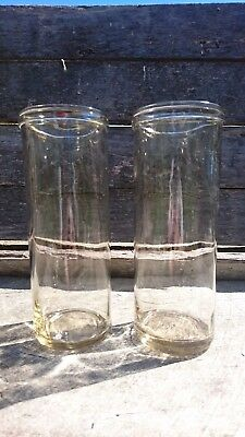 2 Vintage Fowler No 36 glass preserving jars - 1954