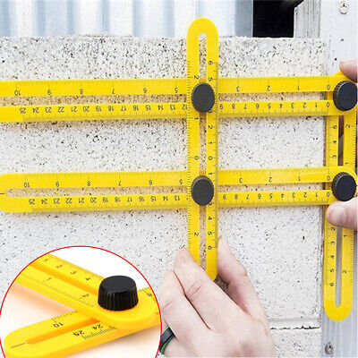 Four-Sided Ruler Angle Measuring Mechanism Slide Template Tool Instruments