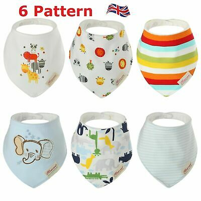 6PCS Infant Gift Baby Bibs Boy Girl Saliva Towel Dribble Triangle Bandana Apron