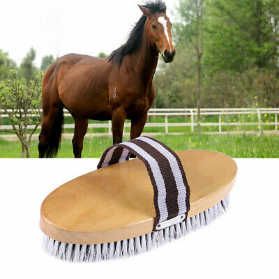 Portable Wood Horse Comb Massage Cleaning Hair Brush Horse Brushes for Grooming