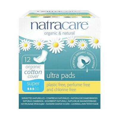 NATRACARE - Natural Feminine Ultra PadsSuper with Wings - 12 Pads