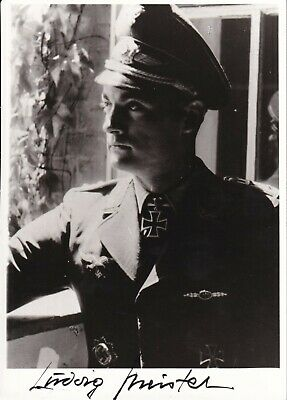 """6"""" x 4"""" photo signed - Ludwig Meister - Knight's Cross of the Iron Cross"""
