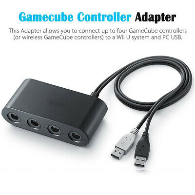GameCube Controller Adapter 4 Port For Nintendo Switch NGC Wii U and PC USB