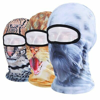 2019 New 3D Cap Animal Ski Hooded Hat Veil Balaclava UV Full Mask Outdoor