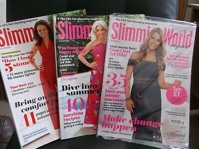 Slimming World Magazines x3 inc. free 2019 Calendar and Fakeout Feasts mini book