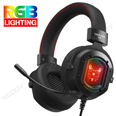 3.5mm Gaming Kopfhörer mit Mic RGB LED for PS4 Xbox One S Controller Headphones