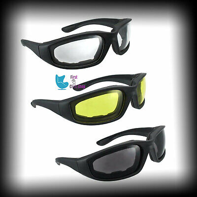 d1aab502b3 Motorcycle Riding Glasses 3 Pair Smoke Clear Yellow Eye Protection  Polycarbonate