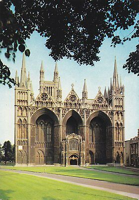 Postcard showing The West Front of Peterborough Cathedral.