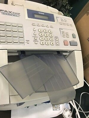 BROTHER FAX 8360P FAX MACHINE -  Used Condition with cables