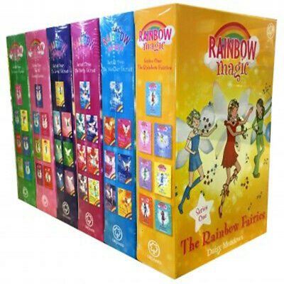 Rainbow Magic Series Colour Weather Party Jewel Fairies 42 Books Collection Set