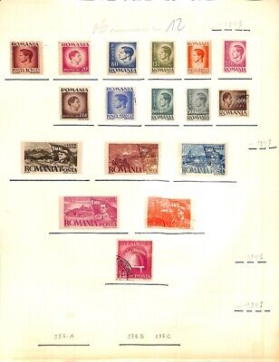 [OP8543] Romania lot of stamps on 12 pages - see photos on description