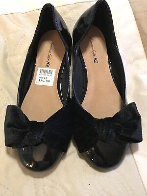 20139e5b9c35 American Eagle Girls Ameera Flat In Black Size US 13 MSRP  25 SOLD OUT-NEW