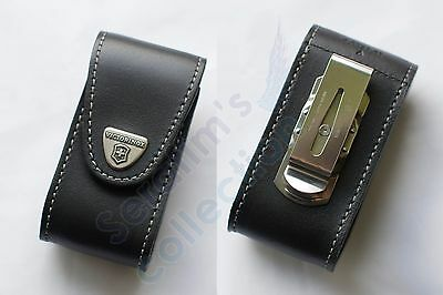 Victorinox Pouch Black Leather 4.0521.31 for 84/91mm, 5–8 layers Folding Knife