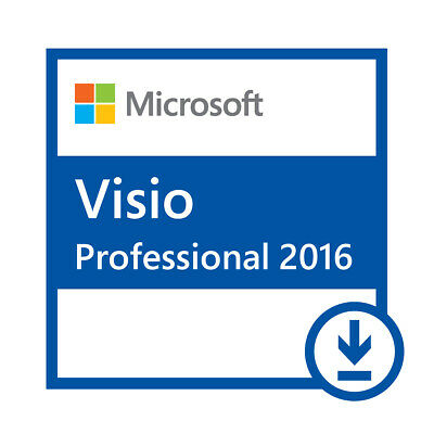 Microsoft VISIO 2016 Professional Pro Product Key Instant Delivery ESD 1 User