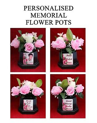 Personalised Mother's Day Memorial Flower Pot Grave Side Tribute Photo