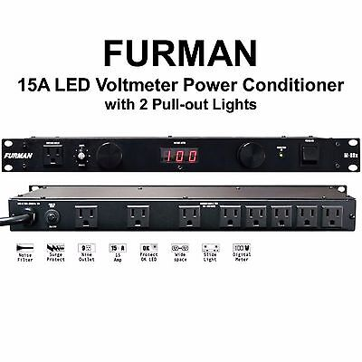 FURMAN M-8DX Dual Light LED Voltmeter Rackmount 15A Power Conditioner