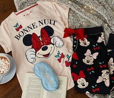 Brand New With Tags Primark Disney Minnie Mouse  Pyjama T-Shirt And Leggings