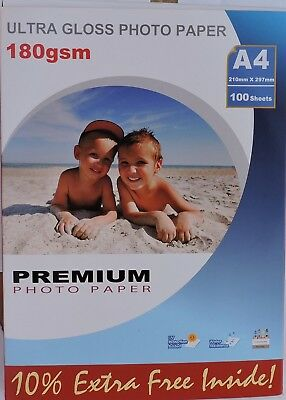180gsm Photo Paper available in Double Sided & Single Gloss or Matte