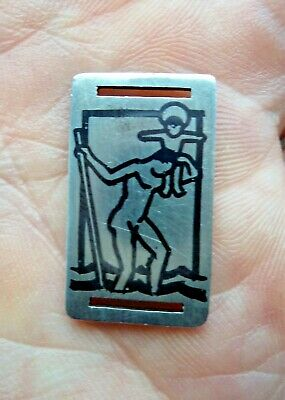 Arts & Crafts Henry George Murphy 1931 Solid Silver Plaque / Pendant / Book Mark