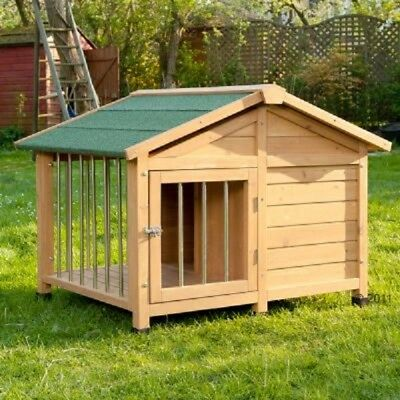 Large New Wooden Lockable Dog Kennel Pet House 140 x 110 x 95 cm (L x W x H)