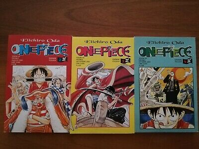 One Piece - PRIMA EDIZIONE - Star Comics volumi  #2 #3 #4